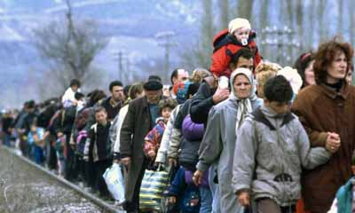 Россияне помогают беженцам