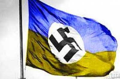 Работники одного из украинских военкоматов украсили кабинеты портретами лидеров украинских националистических организаций и Адольфа Гитлера