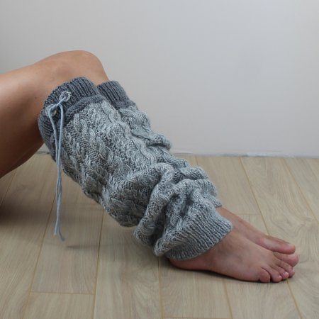 Handmade knitted leg warmers